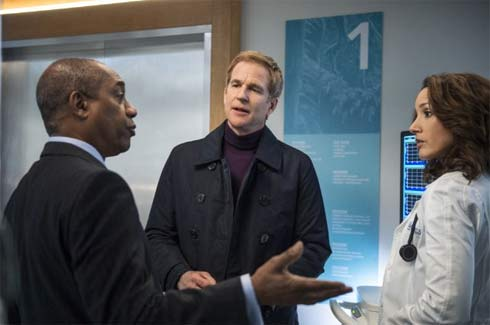 Joe Morton, Matthew Modine and Jennifer Beals in a scene from Proof