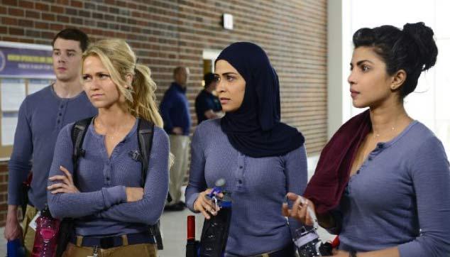 Female FBI recruits played by Johanna Braddy, Yasmine Al Massri, and Priyanka Chopra