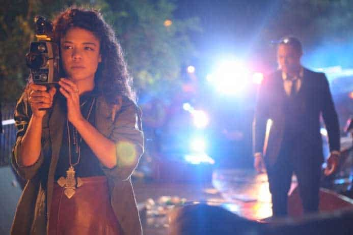 Tessa Thompson and Brandon P Bell at a Halloween party gone wrong