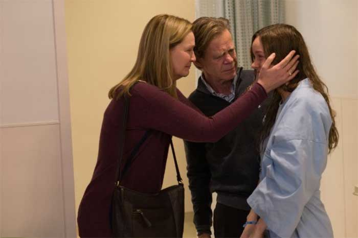 Joan Allen, William H. Macy and Brie Larson in Room