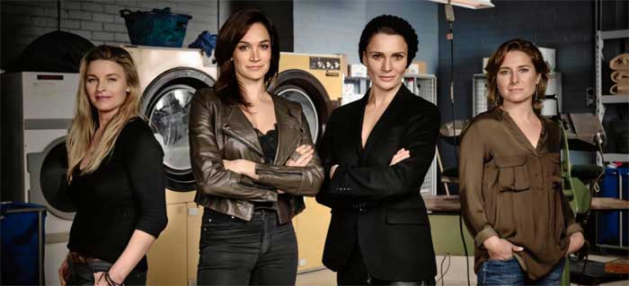Tammy Macintosh, Nicole da Silva, Danielle Cormack and Libby Tanner in Wentworth season 3
