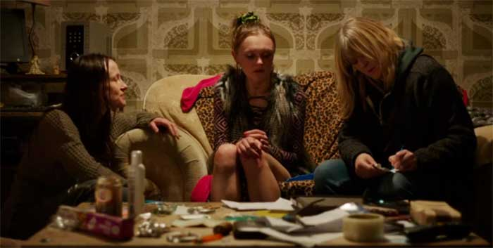 Keeley Forsyth, Hebe Beardsall, and Sarah Lancashire in a scene from Happy Valley