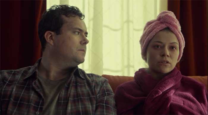 Kristian Bruun and Tatiana Maslany in Orphan Black