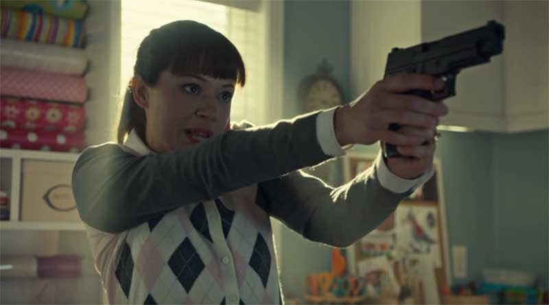Tatiana Maslany as Allison learning to use a gun in Orphan Black