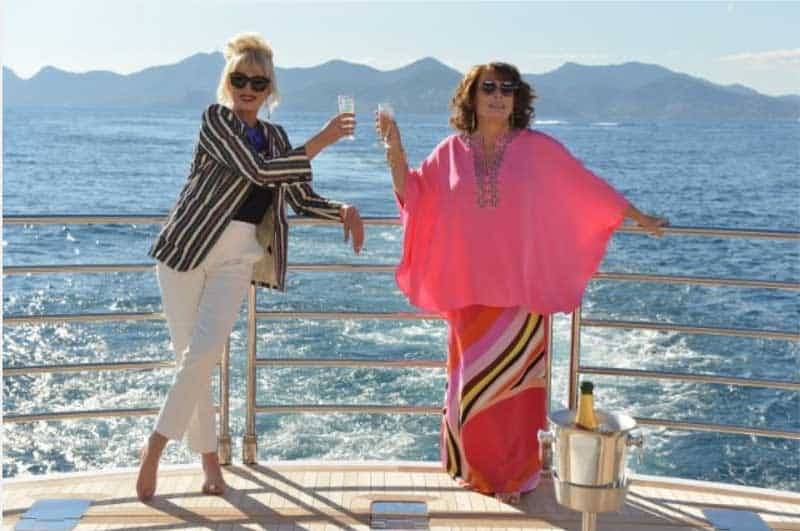 Still of Joanna Lumley and Jennifer Saunders in Absolutely Fabulous: The Movie