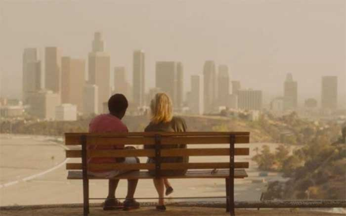 Anthony Okungbowa and Mamie Gummer in Echo Park