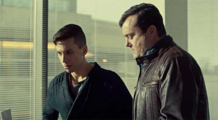 Jordan Gavaris and Kristian Bruun in Orphan Black