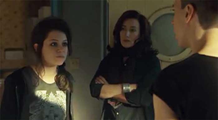 Tatiana Maslany, Maria Doyle Kennedy and Jordan Gavaris in Orphan Black