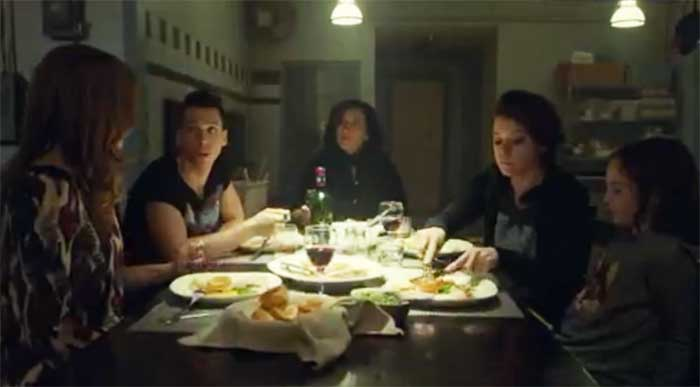Lauren Hammersley, Jordan Gavaris, Maria Doyle Kennedy, Tatiana Maslany, and Skyler Wexler in Orphan Black