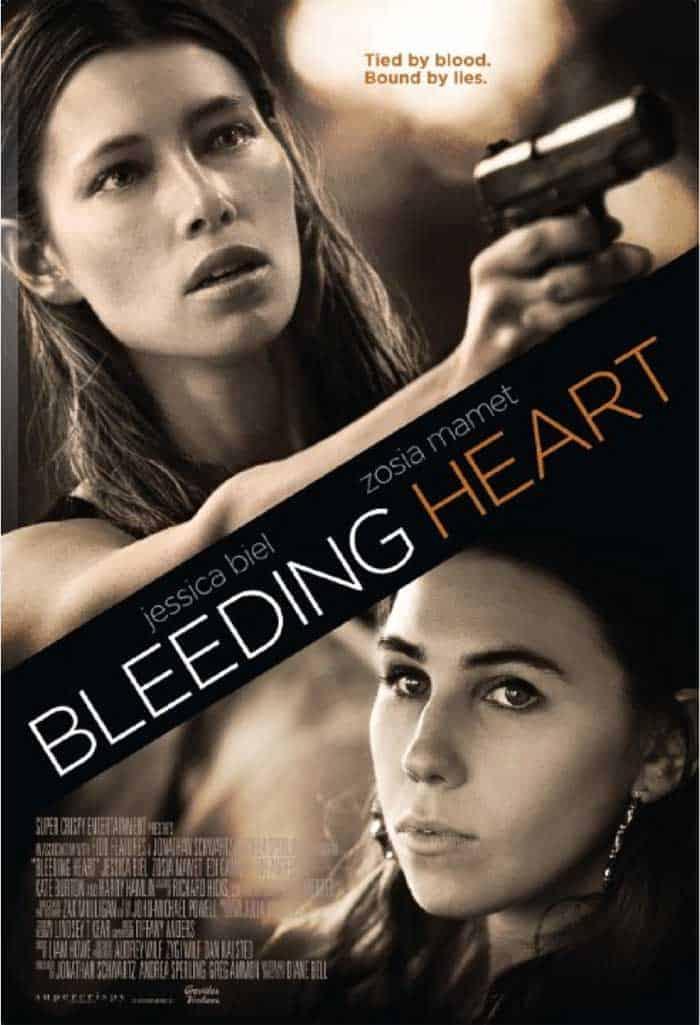 The poster for Bleeding Heart