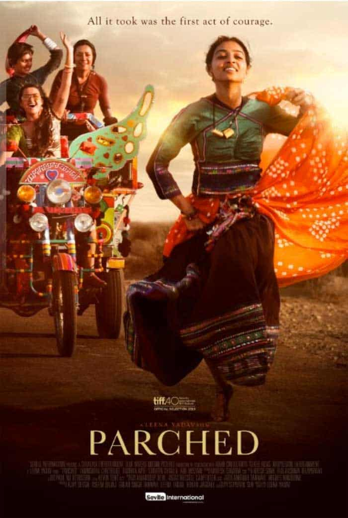 The poster for the film Parched