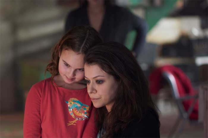 Skyler Wexler and Tatiana Maslany in Orphan Black