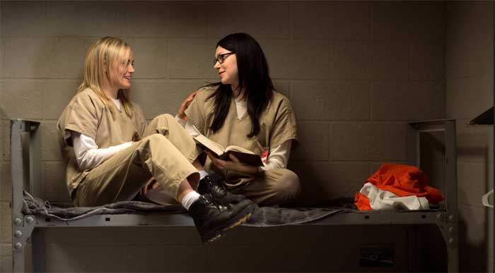 Taylor Schilling and Laura Prepon in Orange is the New Black