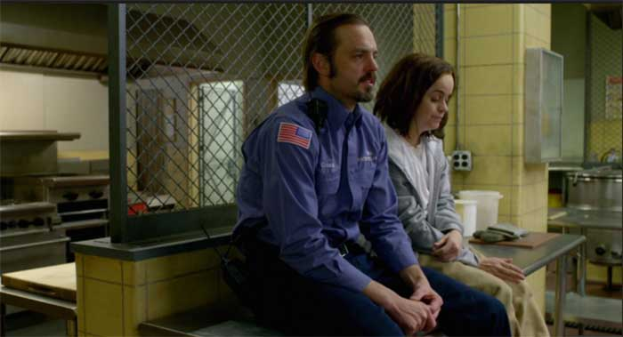 James McMenamin and Taryn Manning in Orange is the New Black
