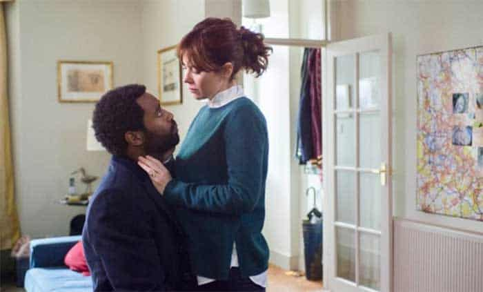 Nicholas Pinnock and Anna Friel in Marcella