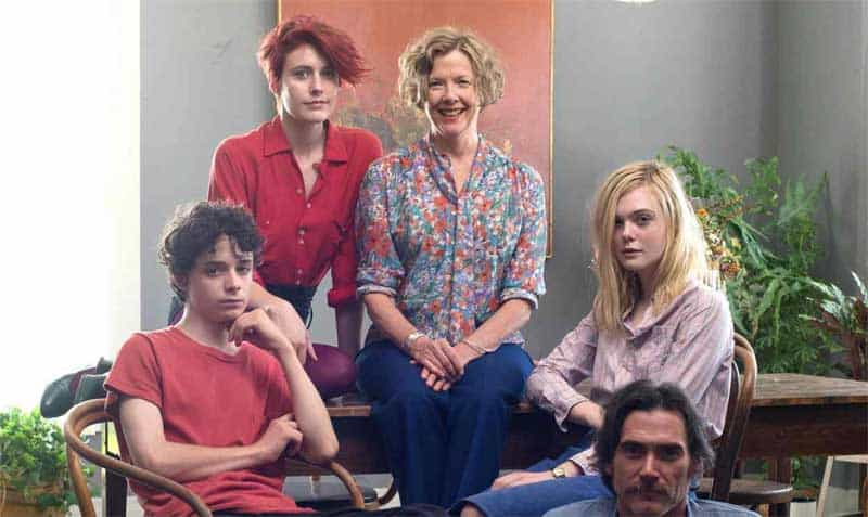 Annette Bening, Billy Crudup, Elle Fanning, Greta Gerwig, Lucas Jade Zumann, and Billy Crudup in 20th Century Women