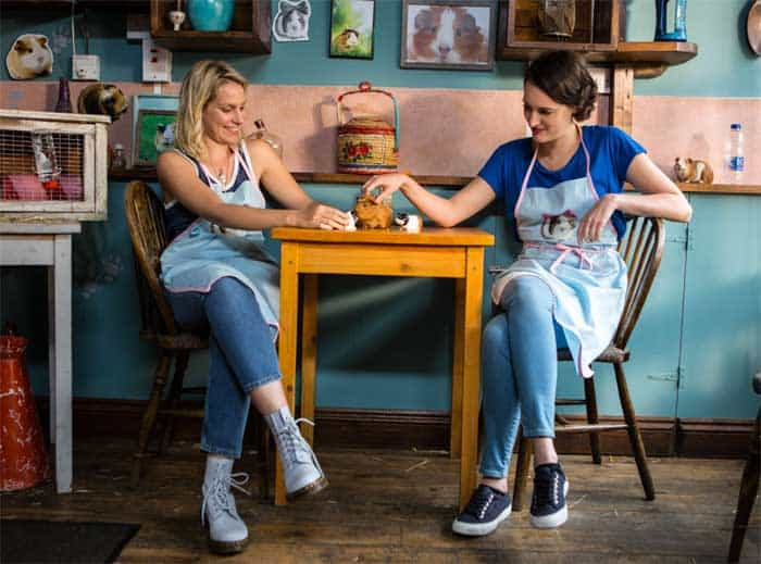 Phoebe Waller-Bridge as Fleabag and Jenny Rainsford as Boo in Fleabag