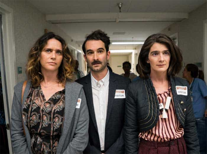 Amy Landecker, Jay Duplass and Gaby Hoffmann in Transparent