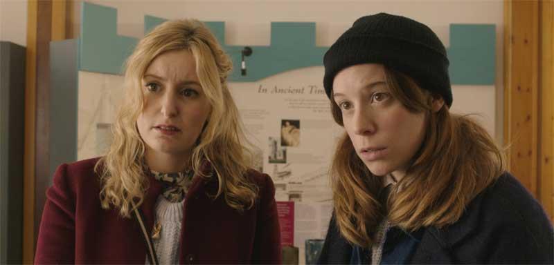 Laura Carmichael and Chloe Pirrie in Burn Burn Burn