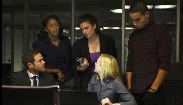 Shawn Ashmore, Merrin Dungey, Hayley Atwell, Emily Kinney, and Manny Montana in Conviction