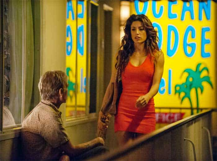 Billy Bob Thornton and Tania Raymonde in Goliath