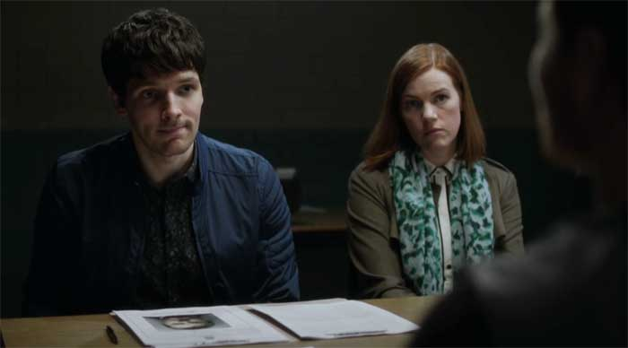 Colin Morgan and Niamh McGrady in The Fall