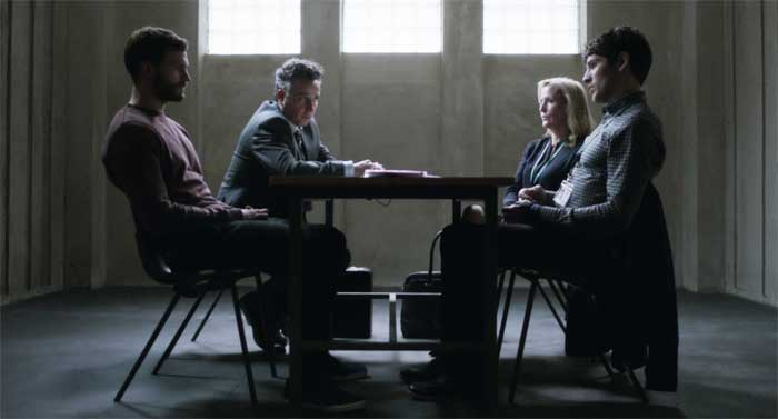 Jamie Dornan, Aidan McArdle, Gillian Anderson and Colin Morgan in The Fall
