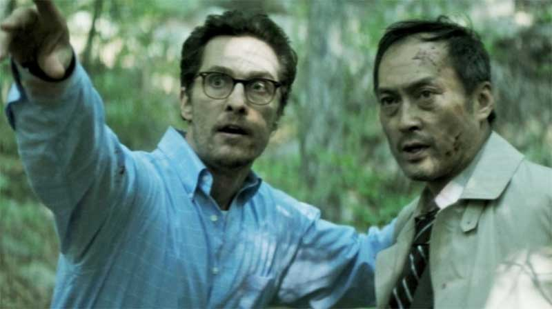Matthew McConaughey and Ken Watanabe in The Sea of Trees