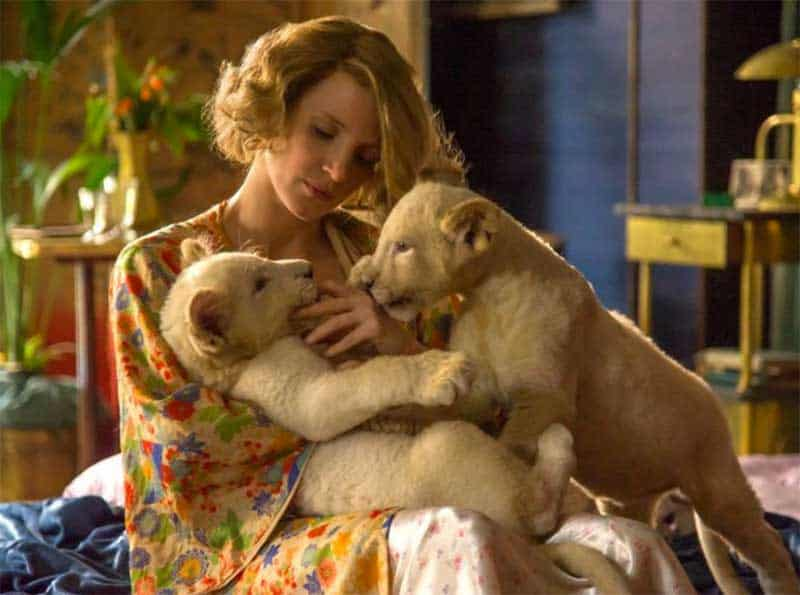 Jessica Chastain in The Zookeepers Wife