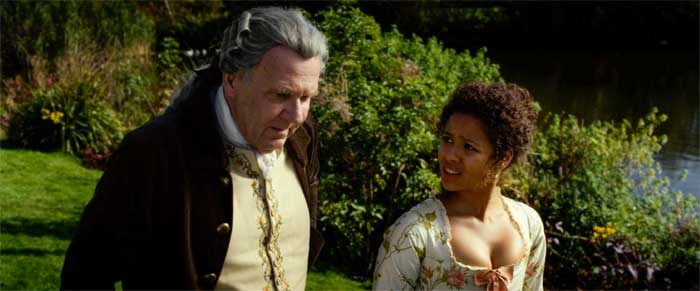 Tom Wilkinson and Gugu Mbatha-Raw in Belle