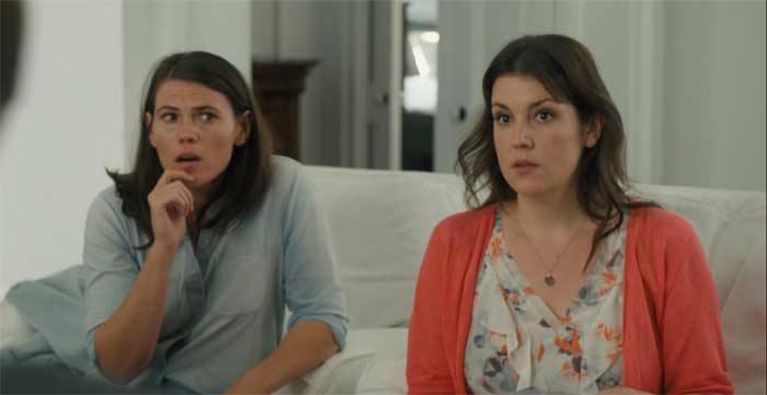 Clea DuVall and Melanie Lynskey in The Intervention