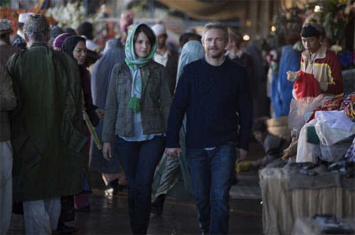 Tina Fey and Martin Freeman in Whiskey Tango Foxtrot