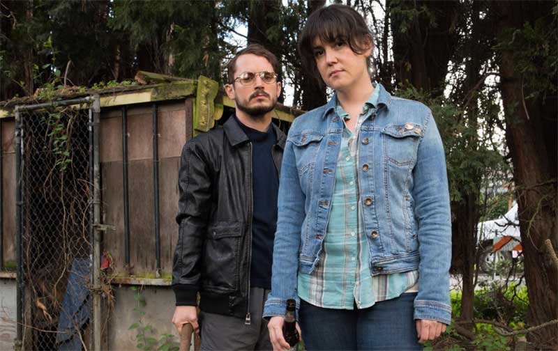 Elijah Wood and Melanie Lynskey in I Don't Feel at Home in This World Anymore