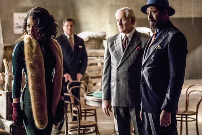 Victor Garber, Jesse L. Martin, and Candice Patton in The Flash