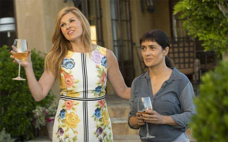 Salma Hayek and Connie Britton in Beatriz at Dinner