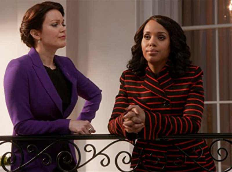 Kerry Washington and Bellamy Young in Scandal
