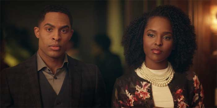 Brandon P Bell and Antoinette in Dear White PeopleRobertson
