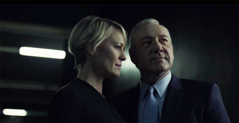 Kevin Spacey and Robin Wright in House of Cards