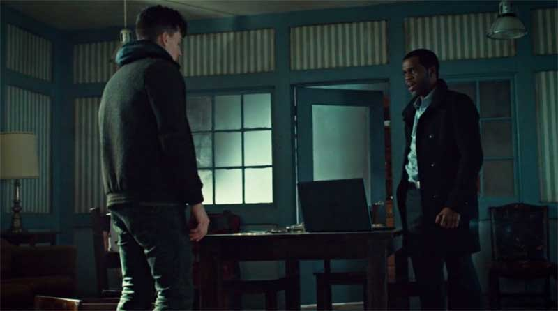 Jordan Gavaris and Kevin Hanchard in Orphan Black