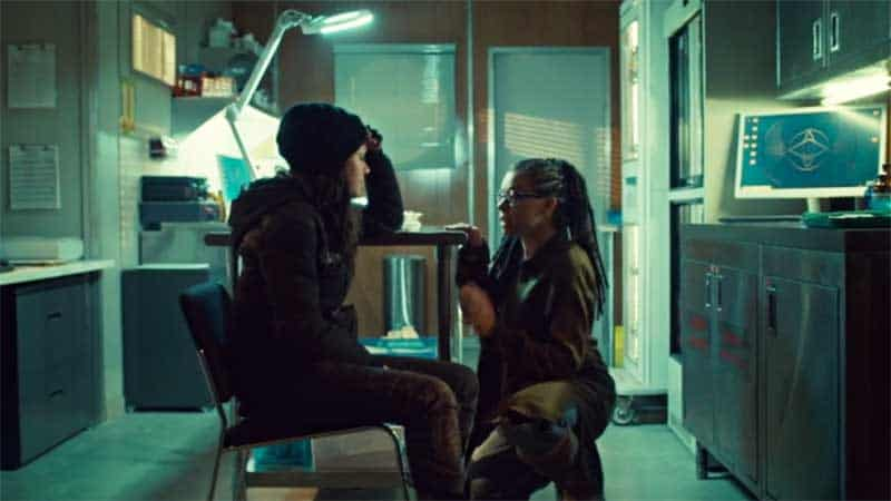 Tatiana Maslany as both Sarah and Cosima in Orphan Black