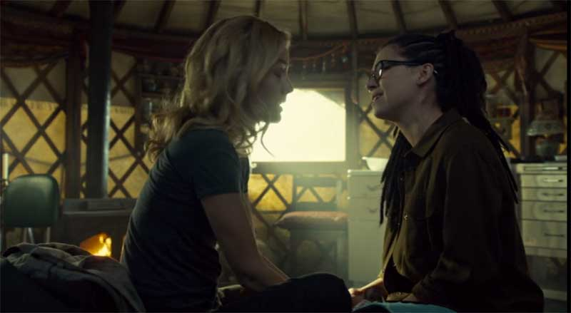Evelyne Brochu and Tatiana Maslany as Cosima in Orphan Black