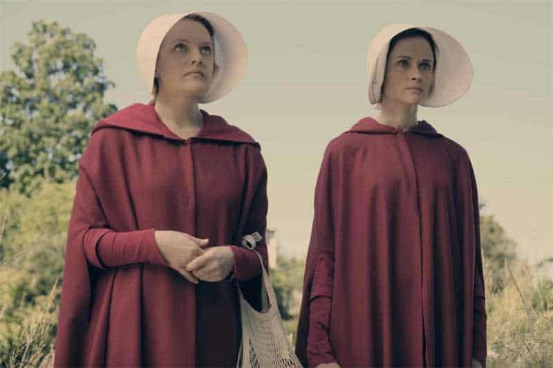 Elisabeth Moss and Alexis Bledel in The Handmaid's Tale