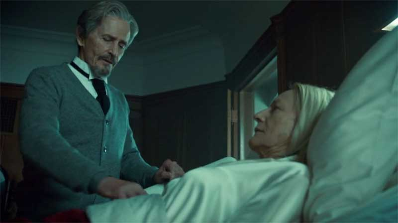 Rosemary Dunsmore and Stephen McHattie in Orphan Black