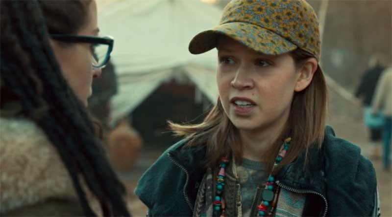 Tatiana Maslany as Cosima and Jenessa Grant Jenessa Grant in Orphan Black