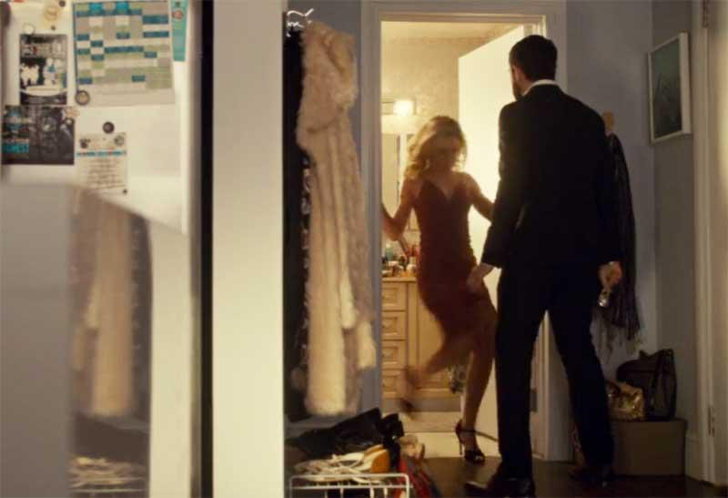 Tatiana Maslany as Krystal and Tom Cullen in Orphan Black