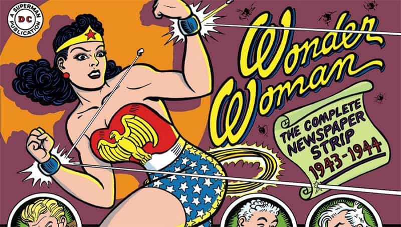 an original wonder woman comic cover