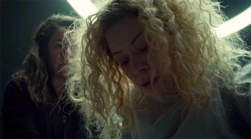Tatiana Maslany as Sarah and Helena in Orphan Black