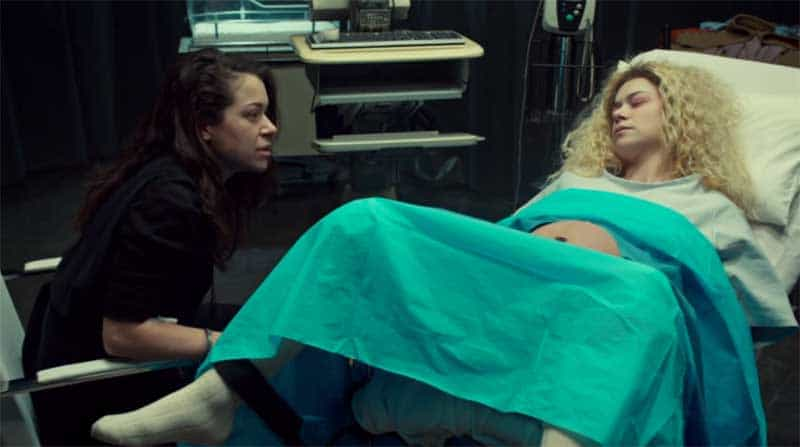 Tatiana Maslany as Sarah and Helena in Orphan Black