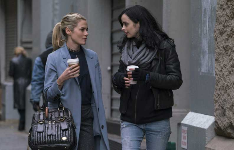 Rachael Taylor and Krysten Ritter in The Defenders