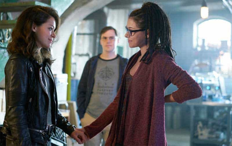 Tatiana Maslany as Sarah and Cosima and Josh Vokey in Orphan Black